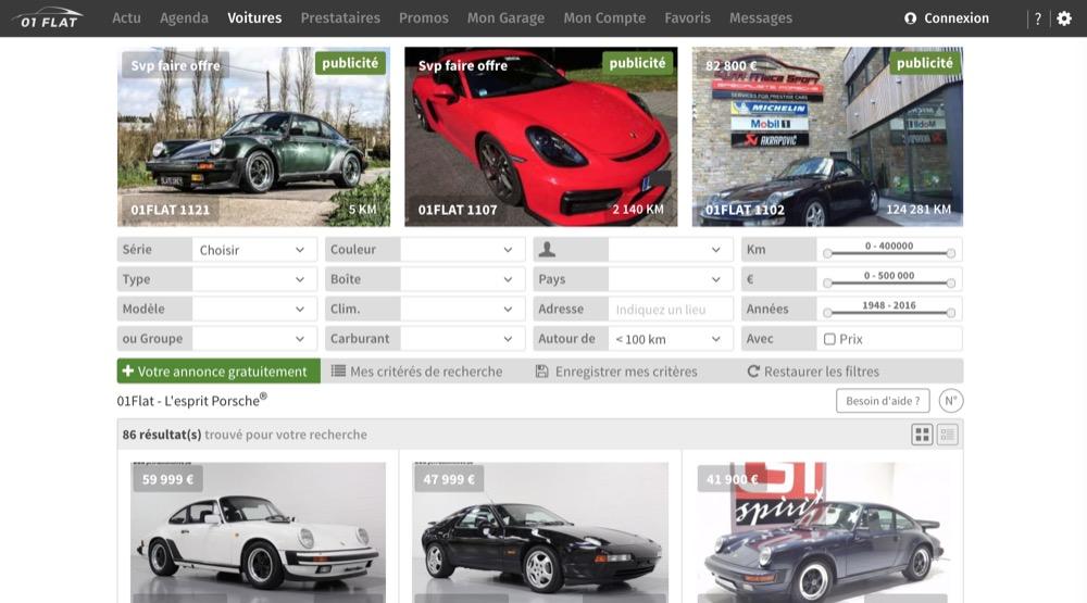 01Flat Porsche site spécialisé